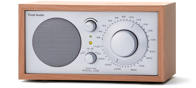 Tivoli Audio  Model 1 radio kersen zilver.