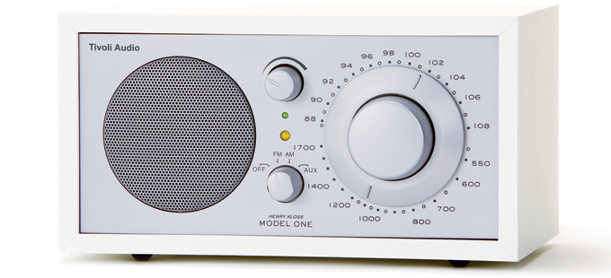 Tivoli Audio  Model 1 radio zilver wit.