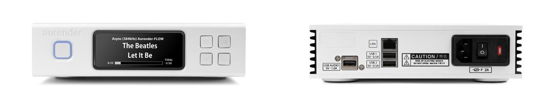 Aurender N100 Netwerkspeler met USB en COAX uitgang 2 TB opslag